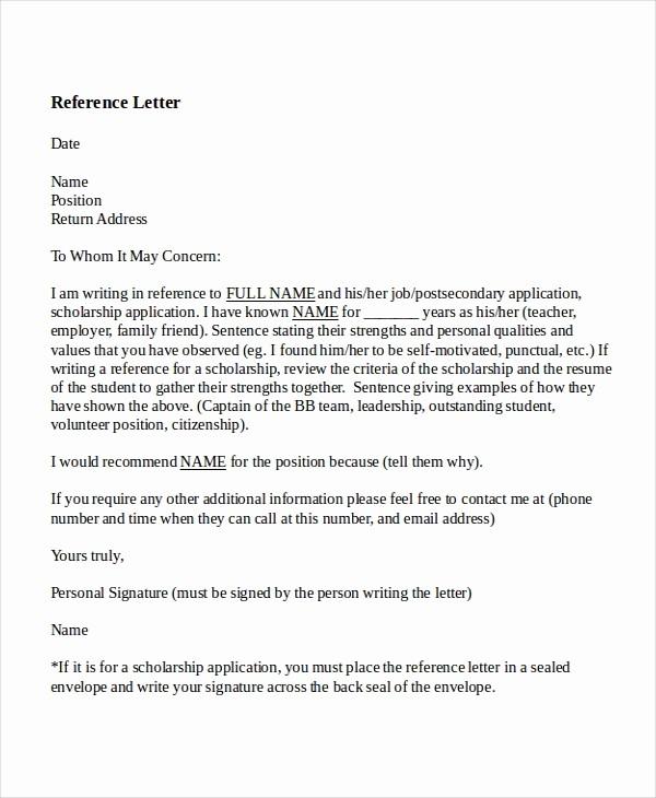 Sample Reference Letters for Teachers Lovely 8 Reference Letter for Teacher Templates Free Sample