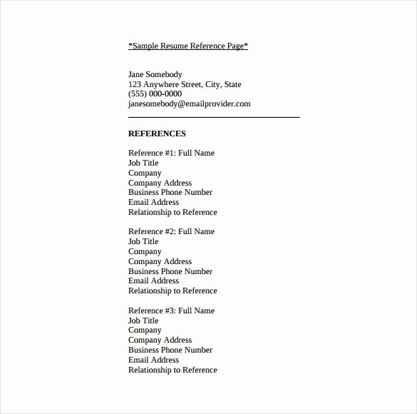 Sample Reference List for Jobs Luxury Resume Template and References