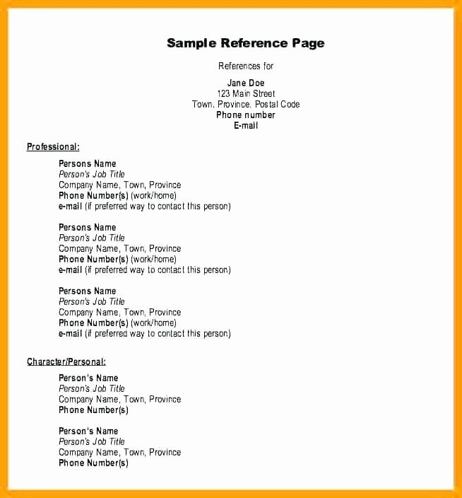 Sample Reference Sheet for Resume Elegant References Resume Layout A – Letsdeliver