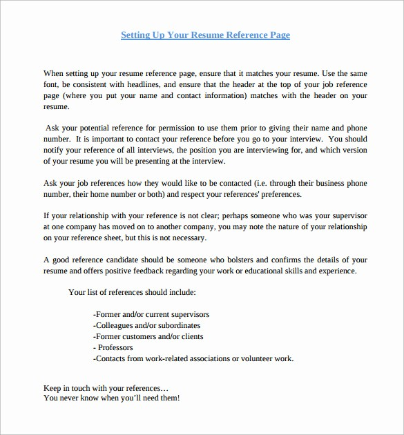 Sample Reference Sheet for Resume Luxury 8 Job Reference Samples