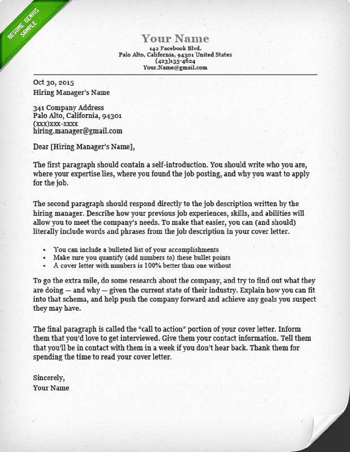 Sample Resume and Cover Letter Inspirational How to Write A Cover Letter Guide with Sample