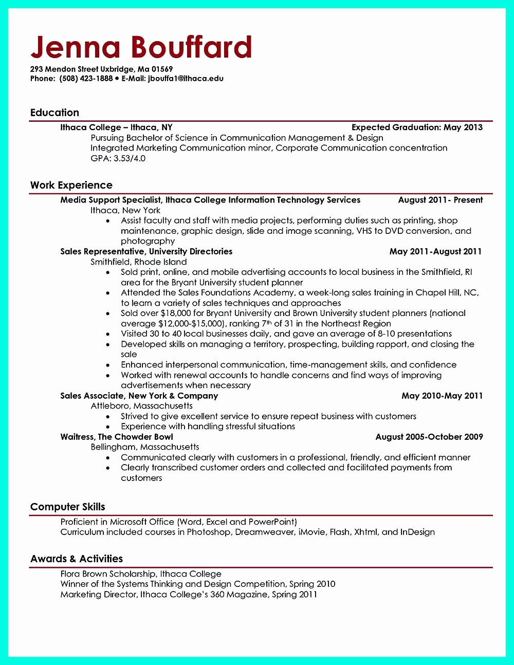 Sample Resume for College Graduate Best Of Current College Student Resume is Designed for Fresh