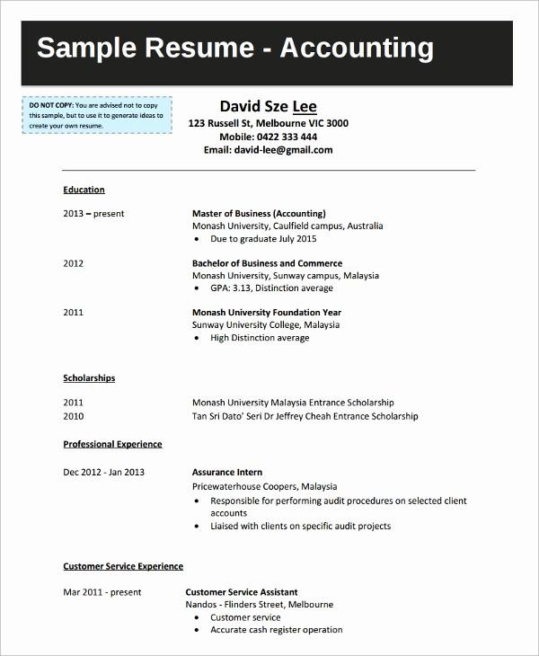 Sample Resume for College Graduate Fresh 9 College Graduate Resumes