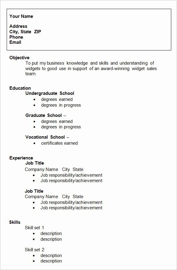 Sample Resume for College Graduate Inspirational 10 College Resume Template Sample Examples