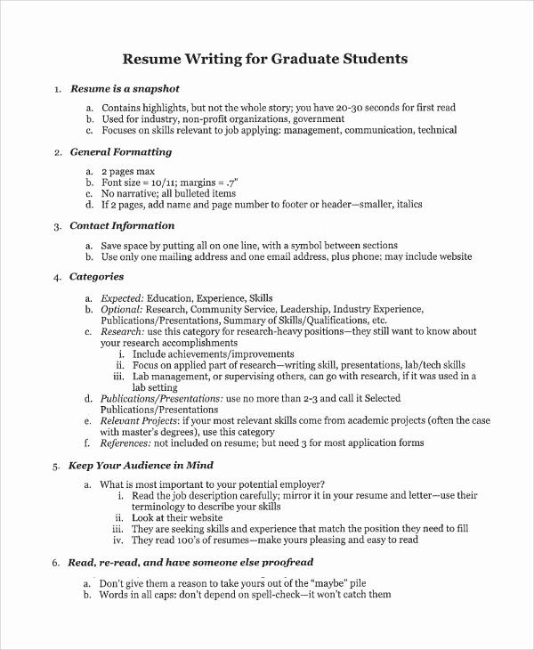 Sample Resume for College Graduate New 9 College Graduate Resumes