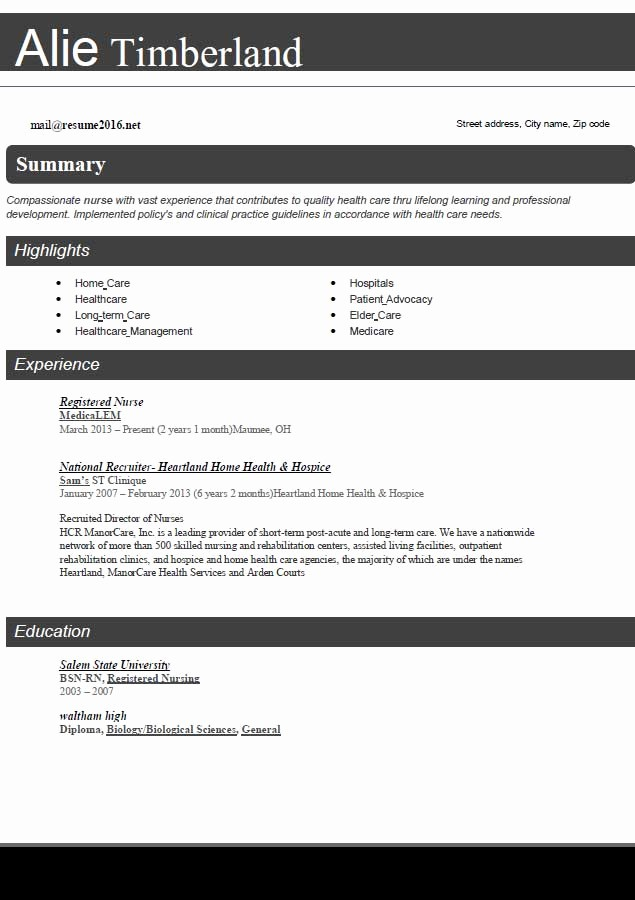 Sample Resume In Word format Awesome Resume format 2016 12 Free to Word Templates