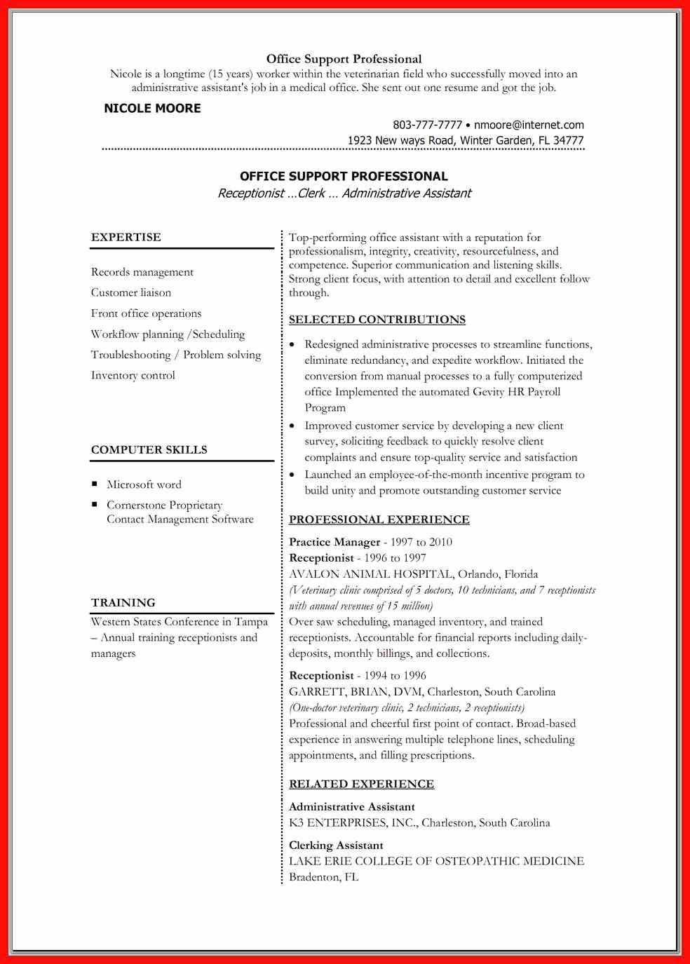 Sample Resume In Word format Elegant Resume Word Doc Template
