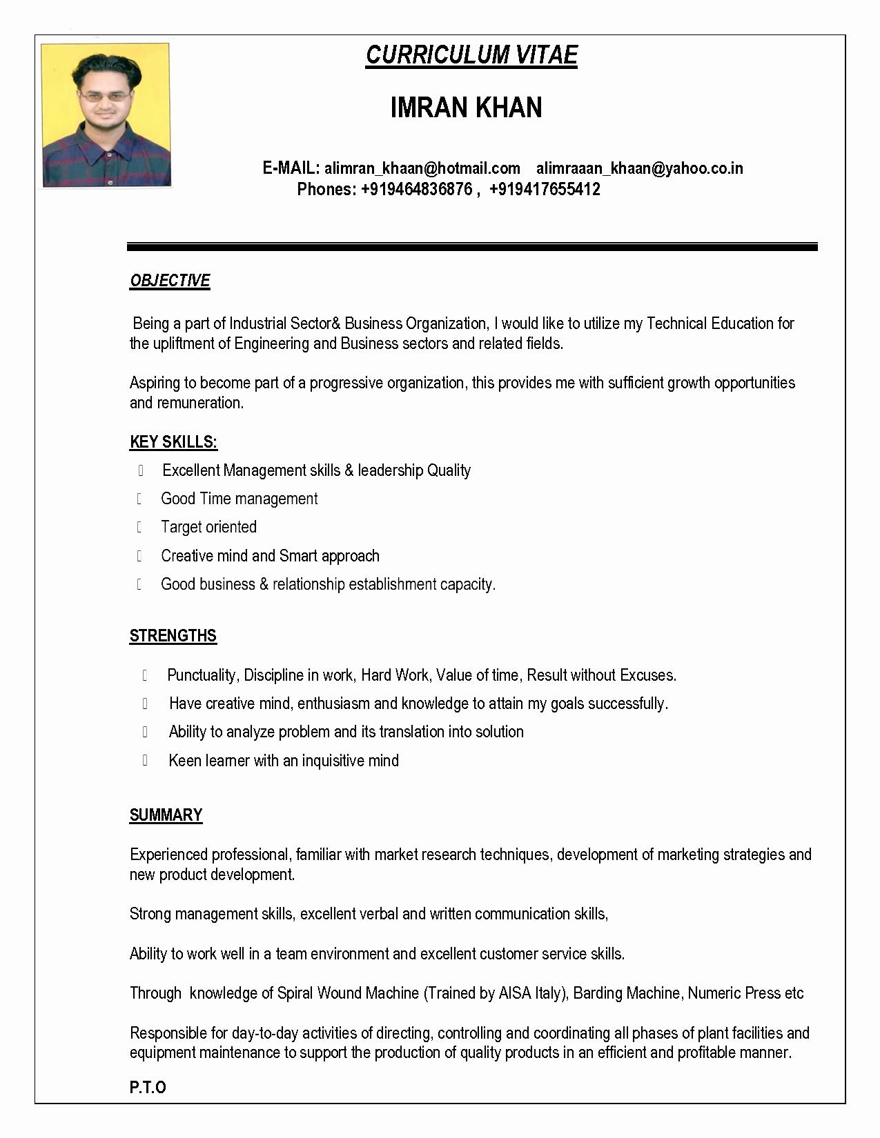 Sample Resume In Word format Inspirational Indian Resume format In Word File Free Download Bongdaao