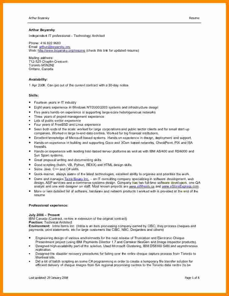 Sample Resume In Word format Lovely 5 Cv format Word File