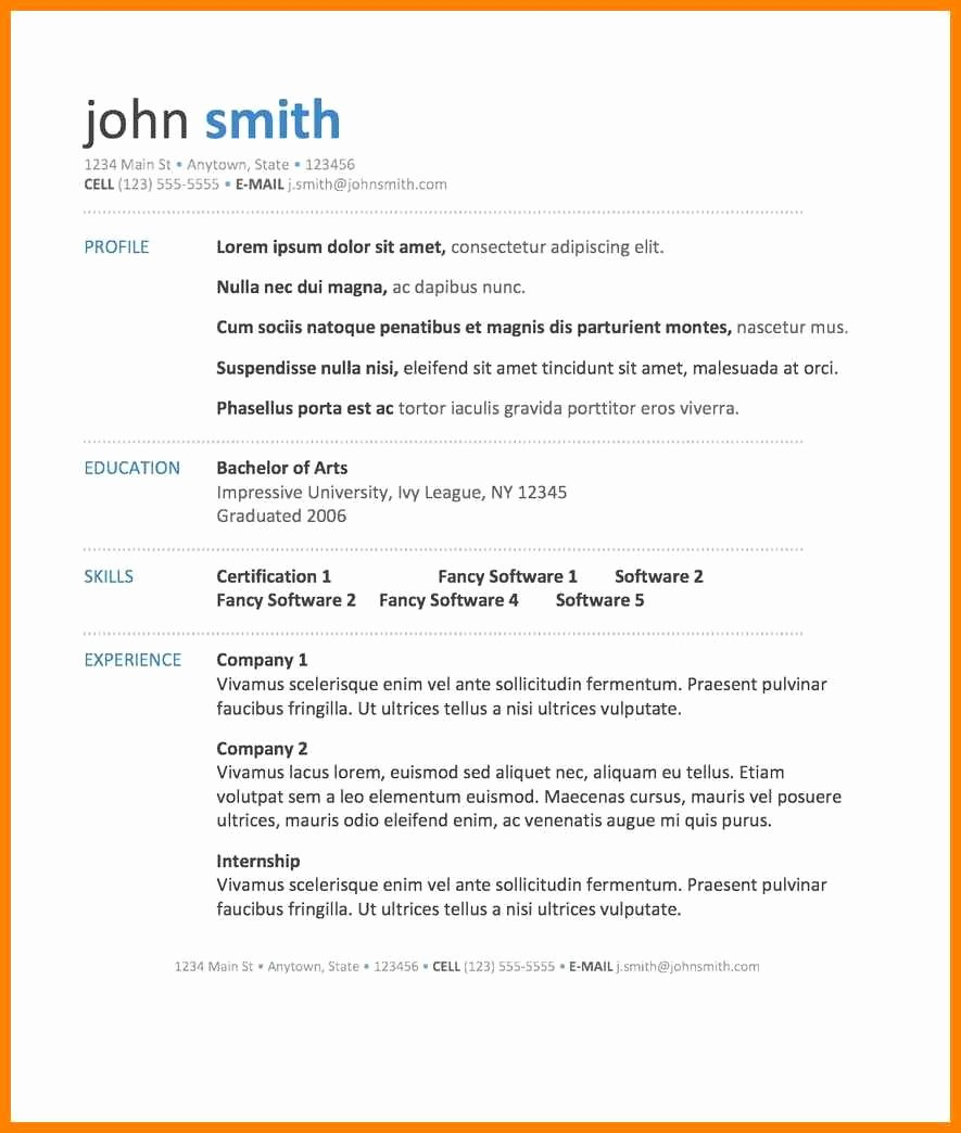 Sample Resume In Word format Unique 18 Best Word Resume Template