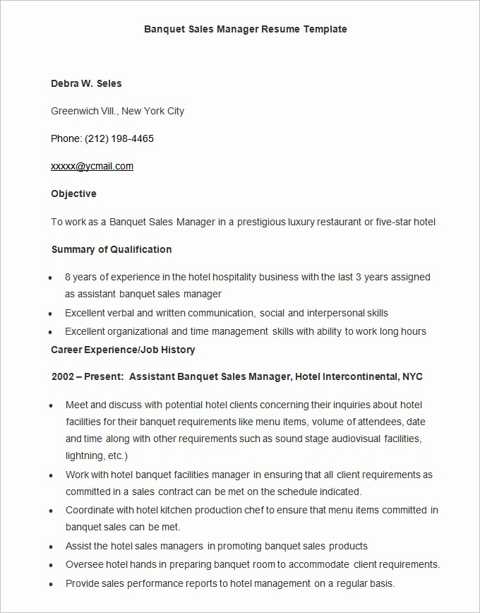 Sample Resume In Word format Unique Microsoft Word Resume Template 49 Free Samples