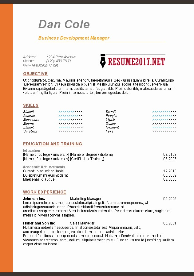 Sample Resume In Word format Unique Resume format 2017 16 Free to Word Templates