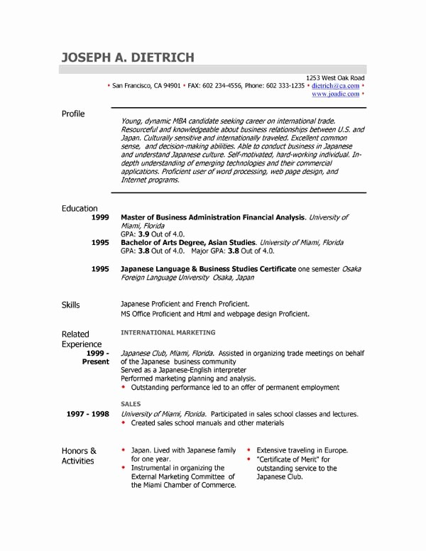 Sample Resume Templates Free Download Awesome 301 Moved Permanently