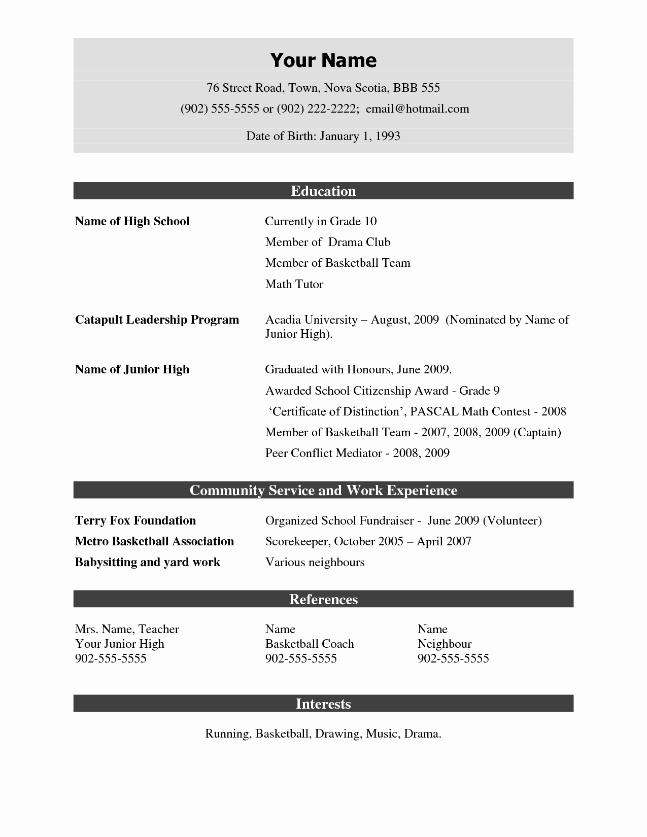 Sample Resume Templates Free Download Awesome Demo Resume