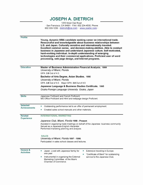 Sample Resume Templates Free Download Beautiful Executive Resumes