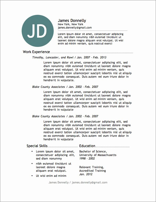 Sample Resume Templates Free Download Best Of 12 Resume Templates for Microsoft Word Free Download