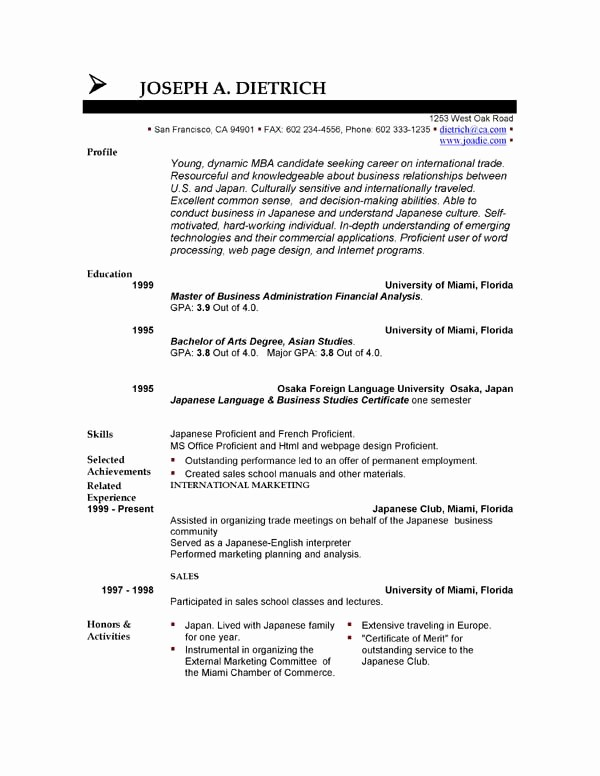 Sample Resume Templates Free Download Best Of Free Resume Template Downloads