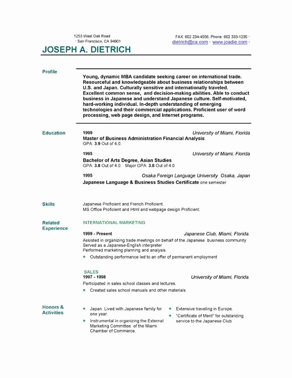 Sample Resume Templates Free Download Lovely Free Resume Template Downloads