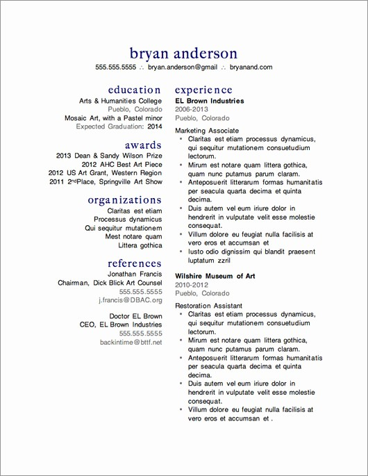 Sample Resume Templates Free Download New 12 Resume Templates for Microsoft Word Free Download