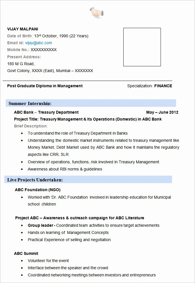 Sample Resume Templates Free Download New 19 Resume Examples Pdf Doc