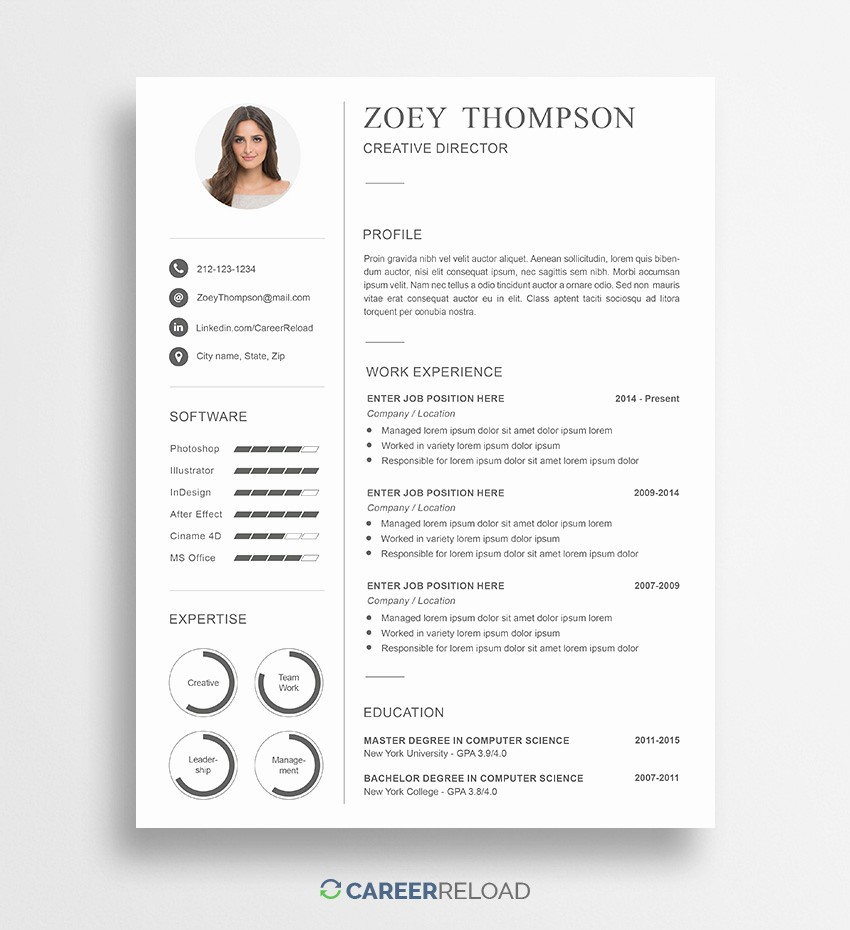 Sample Resume Templates Free Download New Download Free Resume Templates Free Resources for Job