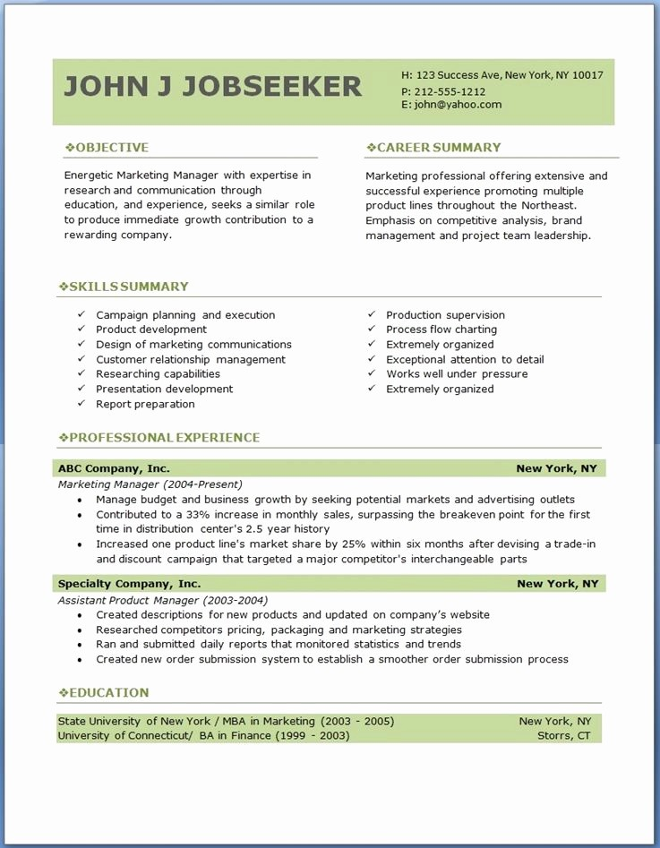 Sample Resume Templates Free Download Unique Free Professional Resume Templates