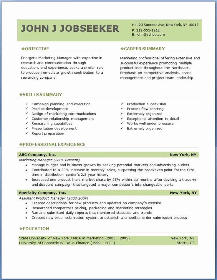 Sample Resume Templates Free Download Unique Free Professional Resume Templates