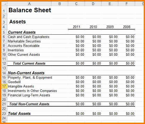 Sample Small Business Balance Sheet Awesome Sample Balance Sheet for Small Business