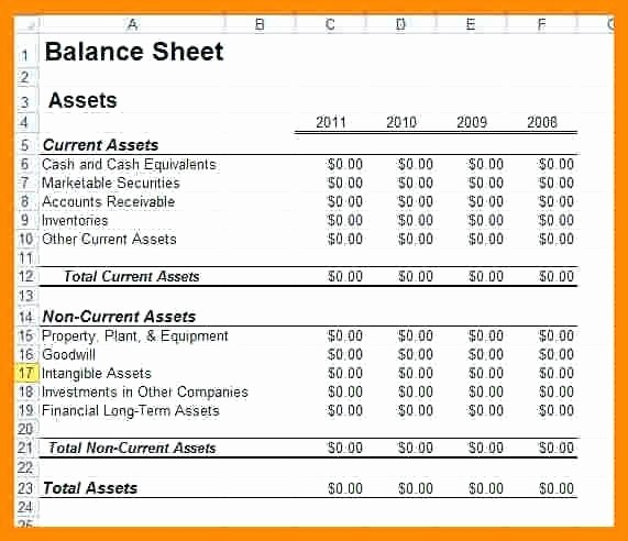 Sample Small Business Balance Sheet Elegant Business Balance Sheet Template