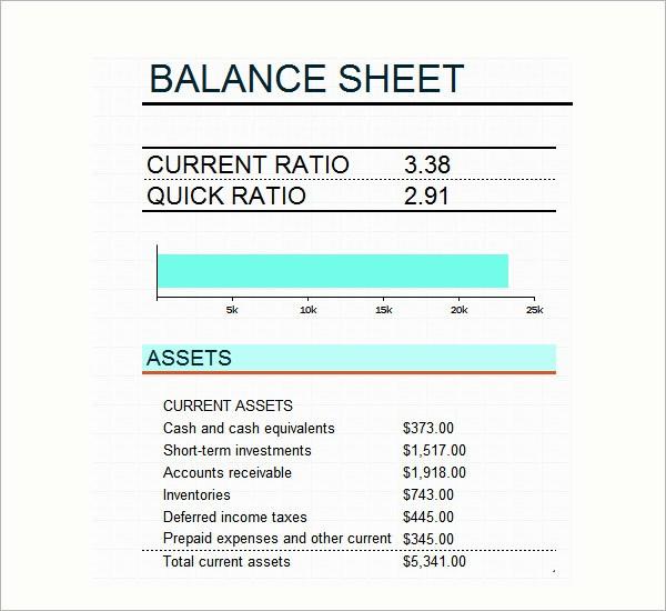 Sample Small Business Balance Sheet Inspirational 6 Sample Balance Sheets