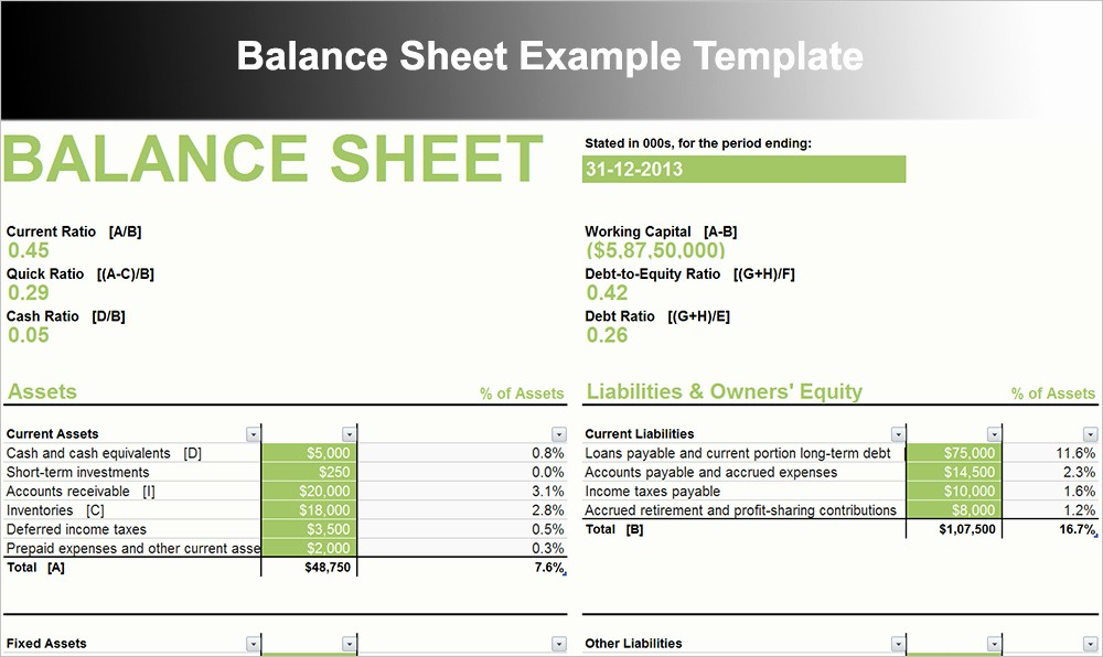 Sample Small Business Balance Sheet New 10 Balance Sheet Template Free Word Excel Pdf formats