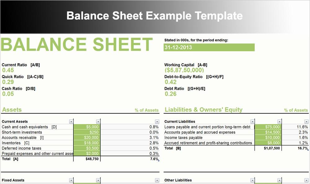 Sample Small Business Balance Sheet New 10 Balance Sheet Template Free Word Excel Pdf formats