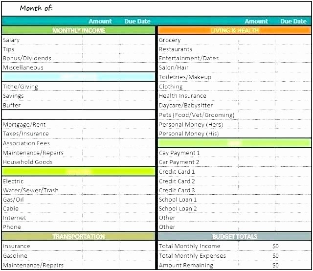 Sample Spreadsheet for Monthly Expenses Awesome Daycare Expense Spreadsheetml