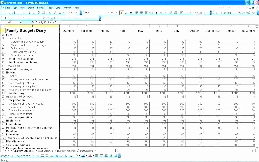 Sample Spreadsheet for Monthly Expenses Elegant Bud Ing Excel Household Bud Spreadsheet Excel Home