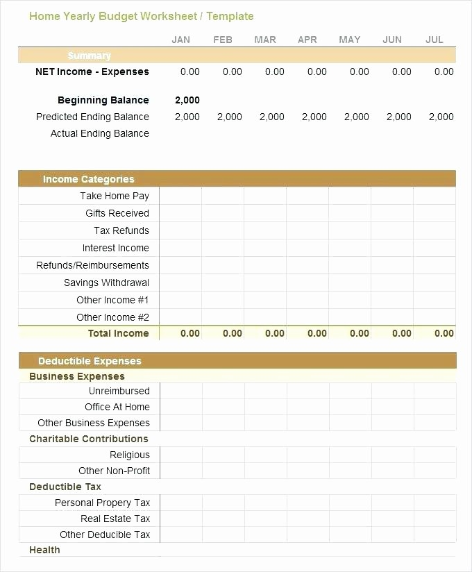 Sample Spreadsheet for Monthly Expenses Unique Personal Spending Bud Template Excel Business Expense