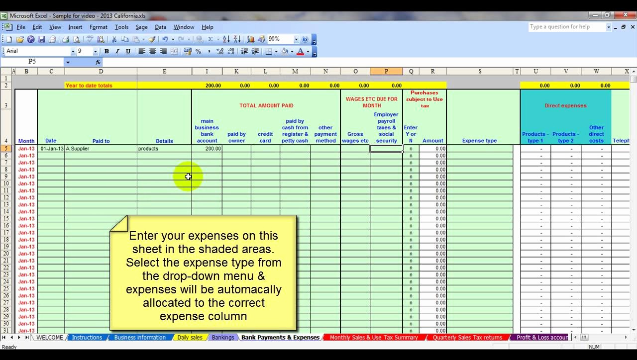 Sample Spreadsheet for Small Business Best Of Sample Accounting Spreadsheets for Excel