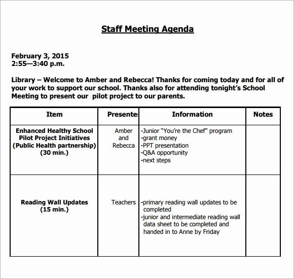 Sample Staff Meeting Agenda Template Best Of Image Result for Teacher Staff Meeting Agenda Template