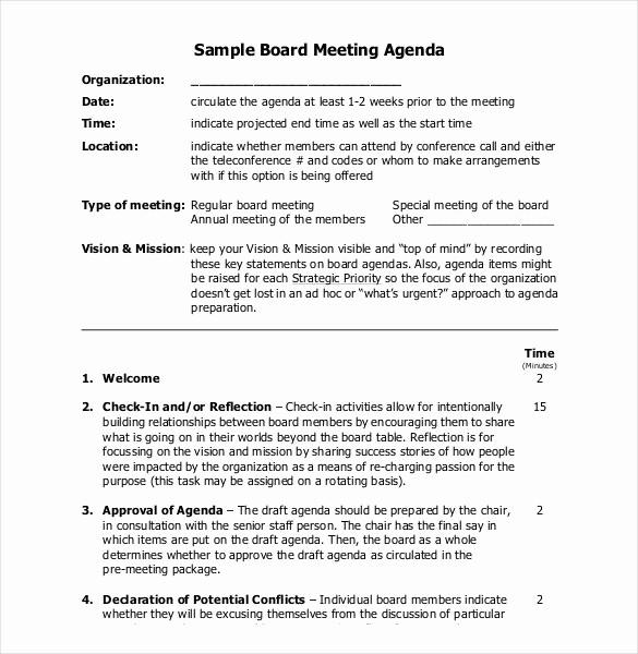 Sample Staff Meeting Agenda Template Inspirational 25 Simple Agenda Templates Pdf Doc