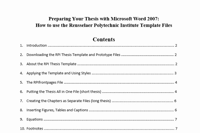 Sample Table Of Contents format Inspirational 10 Best Table Of Contents Templates for Microsoft Word