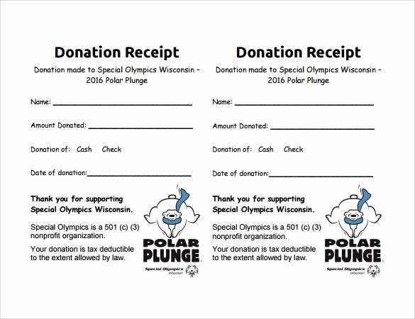 Sample Tax Deductible Donation Receipt Best Of 10 Donation Receipt Templates – Free Samples Examples