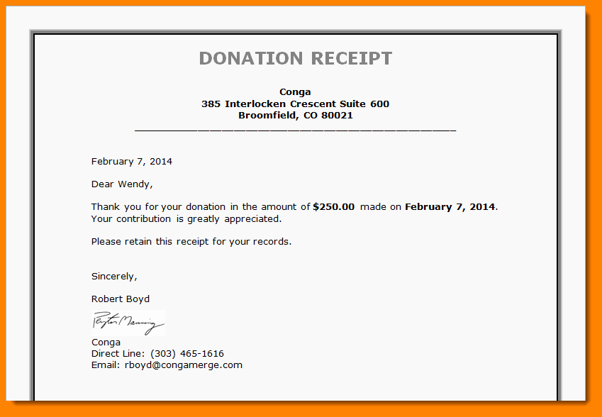 Sample Tax Deductible Donation Receipt Best Of 7 Donation Receipt Letter Template