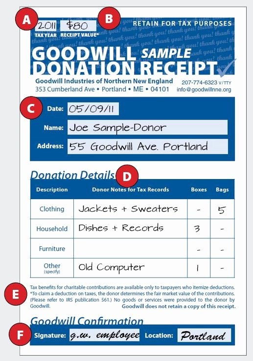 Sample Tax Deductible Donation Receipt Fresh How to Fill Out A Goodwill Donation Tax Receipt Goodwill