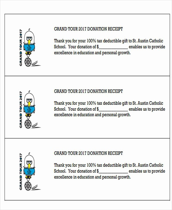 Sample Tax Deductible Donation Receipt Lovely 7 Tax Receipts for Donation