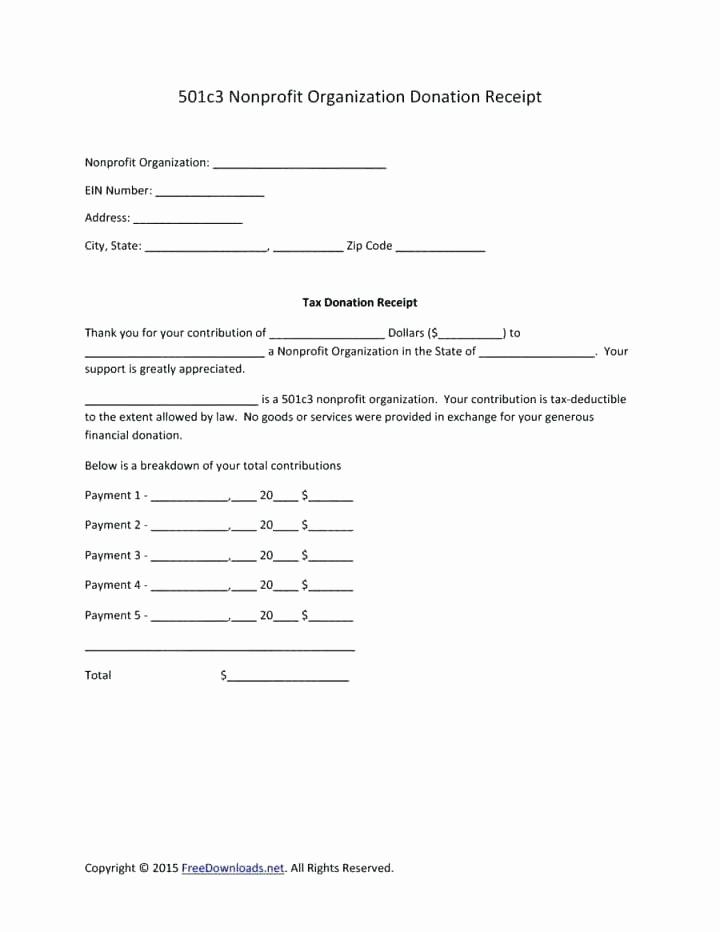 Sample Tax Deductible Donation Receipt Luxury Tax Deductible Donation Receipt Template – Voipersracing