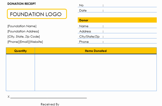 Sample Tax Deductible Donation Receipt New Donation Receipt Template 12 Free Samples In Word and Excel