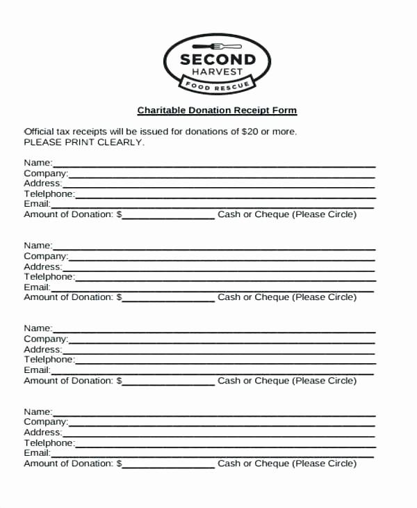 Sample Tax Deductible Donation Receipt New Tax Deductible Donation Receipt 10 Donation Receipt