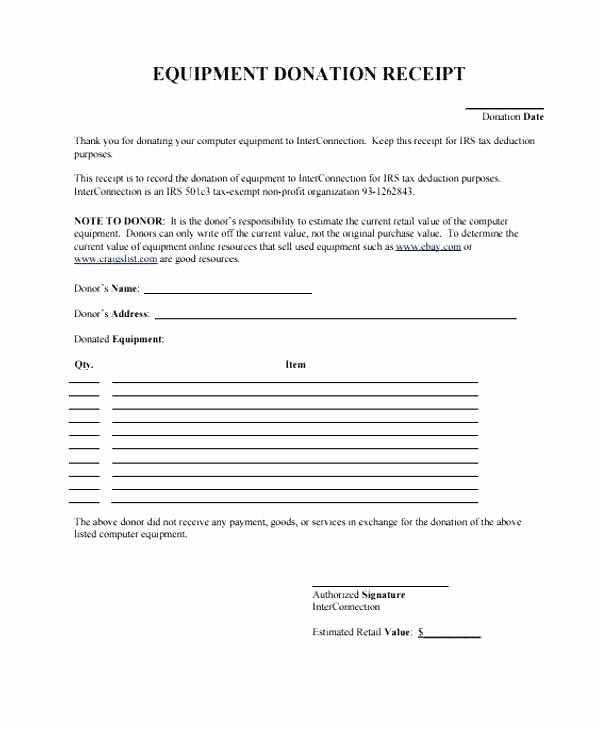Sample Tax Deductible Donation Receipt Unique Charitable Donation Receipt Template Invoice Receipts