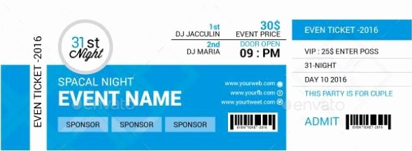 Sample Tickets for events Template Awesome 46 Print Ready Ticket Templates Psd for Various Types Of
