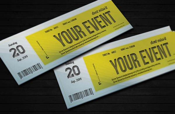 Sample Tickets for events Template Fresh 61 Ticket Invitation Templates Psd Vector Eps Ai