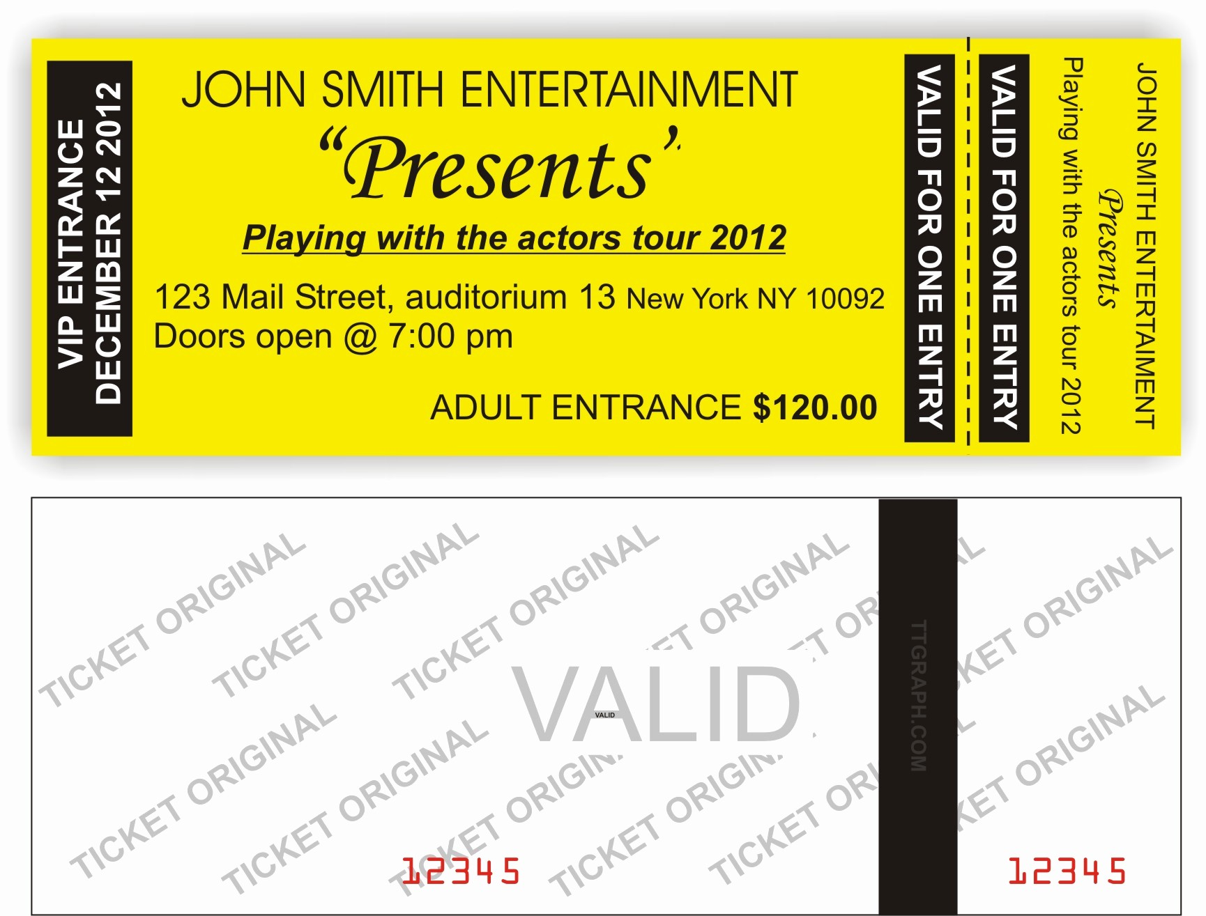 Sample Tickets for events Template Fresh Short Run event Tickets